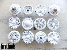 Maybe for kitchen....could be pretty cool!    12+Large+Misfit+Shabby+Chic+Kitchen+Cabinet+Knob+by+Firstfinds,+$72.00