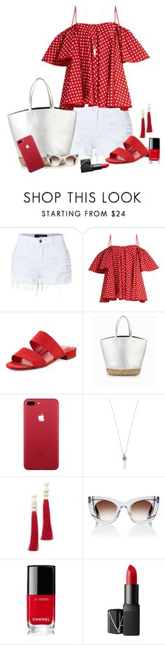 """""""Untitled #1847"""" by ebramos ❤ liked on Polyvore featuring LE3NO, Anna October, Circus by Sam Edelman, Marc Jacobs, Rosantica, Thierry Lasry, Chanel and NARS Cosmetics"""