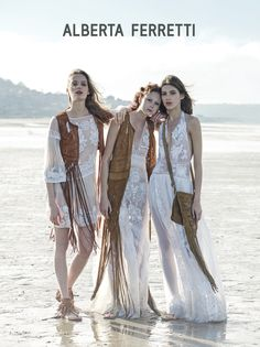 Alberta Ferretti Goes Beach Bohemian for Spring 2015 Campaign