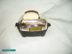 vintage toaster with bread