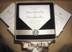 elegant wedding invitations with rhinestones-c02