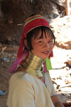 Pa Doung long-necked woman, Chiang Dao, Thailand