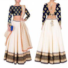 Cream banglori silk partywear lehenga Indian Wedding Wear, Indian Wear, Choli Designs, Priyanka Chopra, Lehenga Choli, Baby Wearing, Skater Skirt, Silk, Cream