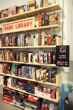 New: Gather & Game is the board game café you never knew you needed - Step Out B .New: Gather & Game is the board game café you never knew you needed - Step Out Board Game Shelf, Board Game Cafe, Board Game Storage, Wooden Board Games, Old Board Games, Board Games For Kids, Kids Board, Board Ideas, Board Game Design