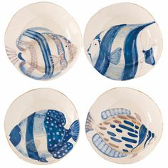 VIETRI - Adriatic Assorted Fish Salad Plates.  Their tablescape with these is gorgeous.  I want it all!