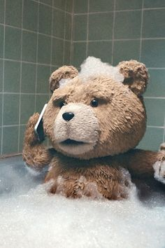 I always thought to myself from the movie: how does a teddy bear take a bath?