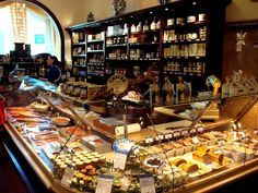 I fell in love with this high-end grocery store in Munich. They offer breakfast, lunch, dinner, have dessert as well as coffee and tea. Great Places, Places To Go, Beautiful Places, European Holidays, French Bistro, New City, Germany Travel, Munich, Four Square