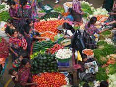 Colorful Vegetable Market in Chichicastenango, Guatemala