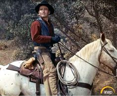 James Drury as The Virginian. Looks Right at Home on That Horse. Western Film, Great Western, Shiloh Ranch, Doug Mcclure, James Drury, Action Pictures, Actor James, The Virginian, Tv Westerns