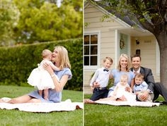 Ashlee Raubach Photography: At home with the Jacob's family...love the pose in front of the house