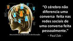 Cérebro e redes sociais www.facebook.com/NeurocienciasEmBeneficioDaEducacao