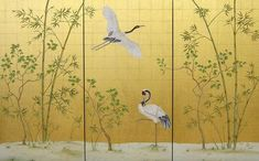 Hand painted gold wallpaper from Yrmural Studio,Good price with same high quality as deGournay and Fromental at http://www.yrmural.com