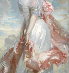 """Miss Mathilde Townsend"" (1907) (detail) by John Singer Sargent (1856-1925)."