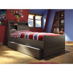 Bestar Juvenil Twin Trundle Bed - Finish: Antigua