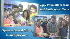 Vijay Tv Raja Rani Karthik & team   Smile setai RJ vignesh & team Opens ...