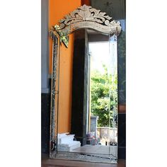 Venetian Mirror Sessa MG 001107 >> Venetian Mirror Manufacture Wholesale Size 190 cm H x 100 cm Venetian Glass, Venetian Mirrors, Distressed Mirror, Surakarta, Vertical Or Horizontal, Oversized Mirror, Interior Design, Home Decor, Style