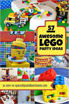 Planning a Lego themed party? Check out this list of great games and activities … Planning a Lego themed party? Check out this list of [. Lego Party Games, Lego Themed Party, Lego Birthday Party, 6th Birthday Parties, Lego Parties, 5th Birthday Ideas For Boys, Cake Birthday, 8th Birthday, Party Themes For Kids