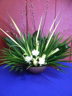 Palm Sunday arrangement. St. John's, Valatie, NY.