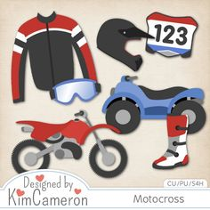 Motocross Racing - Layered PSD Templates with PNG by Kim Cameron for Digital Scrapbooking #CUDigitals