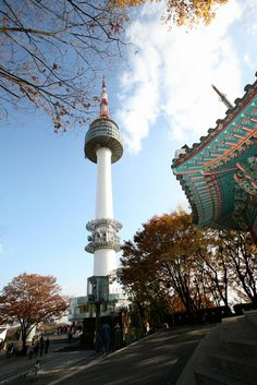 Namsan Tower, Seoul. I have taken the cable car up to Namsan twice. Its really beautiful at the top, you can view the whole of Seoul (currently occupying over 20 million people).