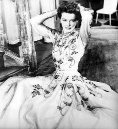 Katharine Hepburn in Schiaparelli.