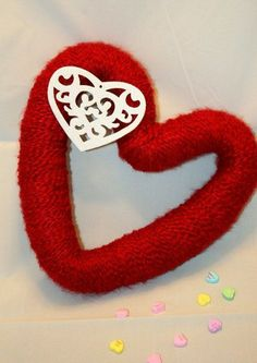 Handmade St`Valentines day craft photo.