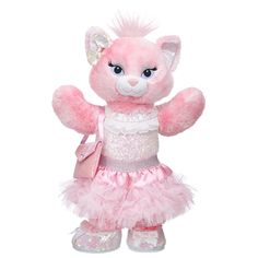 Perfectly Pink Blingy Kitty - Build-A-Bear Workshop US