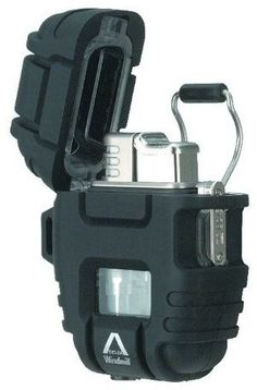 Windmill Delta Stormproof Lighter ... withstands 70-80 mph winds, burns at 2000°F, waterproof case.