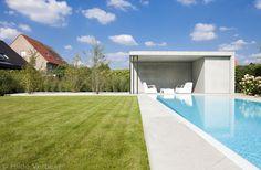 Betonnen poolhouse - my pool by hugelier