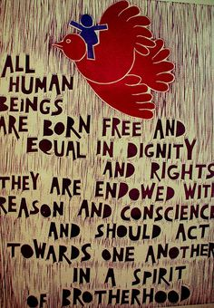 This poster outlines Article 1 of the United Nations Universal Declaration of Human Rights. In a landmark decision the Geneva-based U.N. Human Rights Council voted in favour and endorsed the rights of gay, lesbian and transgendered people in a UN gay rights protection resolution for the first time ever on Friday, 17 June, 2011.