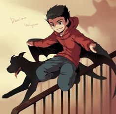 Damian Wayne, actually acting like a child!