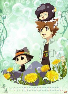 KH Reborn ~~ Calendar Boys :: Tsuna, Reborn, Leon, and Lambo