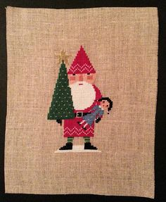 Red Santa design by Birds of a Feather