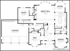 Plan 32547WP: Colonial Home with First Floor Master | Open floor ...