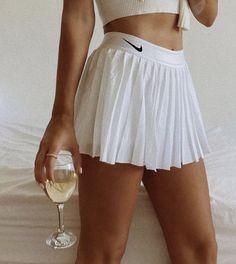 Tennis Shoes Outfit, Tennis Dress, Tennis Clothes, Tennis Outfits, Golf Outfit, White Tennis Skirt, Tennis Skirts, Nike Tennis Shorts, Nike Outfits