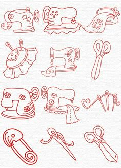 Machine Embroidery Designs Free Embroidery Designs, Sweet Embroidery, Designs Index Page Vintage Embroidery, Embroidery Thread, Embroidery Applique, Cross Stitch Embroidery, Machine Embroidery Patterns, Applique Patterns, Illustration Mode, Sewing Projects, Sewing Tools