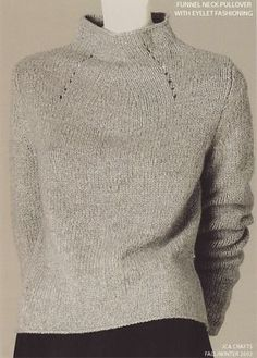 JCA Crafts - FW2002/09 - Full Fashioned Pullover Love the shape of this sweater and neckline