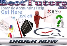 Forensic Accounting Help - Best Tutors, offers impressive accounting homework help to the students, range the students to total high marks.