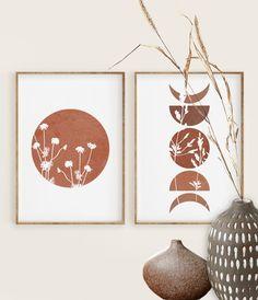 Abstract Shapes, Abstract Wall Art, Geometric Prints, Art Original, Original Paintings, Watercolor Paintings, Wall Art Sets, Wall Art Prints, Terracotta