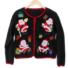 Four Santas Tacky Ugly Christmas Sweater