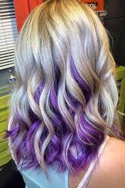 Blond Hair With Purple Underneath Google Search Peekaboo Hair Purple Hair Blonde Underneath Hair