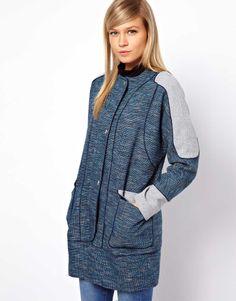 Blocked Textured Coat