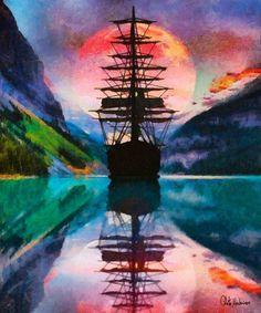 Celito Medeiros, Night Passage - Hi-End Print on Canvas