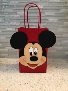 Similar articles to Mickey Mouse Bag favor on Etsy - Party - Mickey Mouse Favors, Mickey Mouse Birthday Decorations, Mickey 1st Birthdays, Fiesta Mickey Mouse, Mickey Mouse Clubhouse Birthday, Mickey Y Minnie, Mickey Mouse Parties, Mickey Birthday, Mickey Party