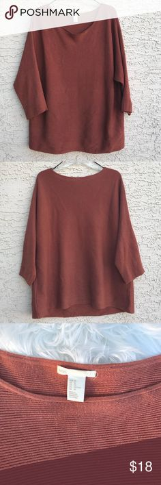 H&M SWEATSHIRT Burnt gorgeous orange color    size: XL  brand: H&M  Good condition 8/10  Fits medium/small/large I wore it as a dress / pictures shown  Only worn once to a fall party H&M Tops Tees - Long Sleeve