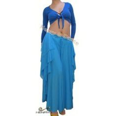 """NEW! HenryG™ Dance Chiffon Belly Dance Skirt in Sky Blue. Length: 38 inch / 97cm   Waist: stretches from 24"""" – 34"""" / 61 -86 cm (elastic)    This HenryG™ flamenco or belly dance skirt is very elegant, and will make you feel as light as the air. In blue sky, this skirt will fit perfectly with a blue top (sold seperatly). Material is high quality chiffon, for comfort and nice moves.    Material: Chiffon  http://henrygdance.com/new-chiffon-belly-dance-skirt-deep-blue-hg-rd-db06.html"""