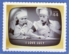 "U. S. Stamps Commemorating the ""I Love Lucy"" Show"