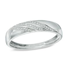 Zales Ladies 2.0mm Wedding Band in 10K White Gold HQPT8f