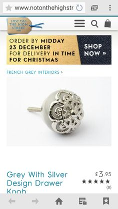 French Grey Interiors, Cufflinks, Engagement Rings, Decorating, Crystals, Diamond, Silver, Accessories, Jewelry