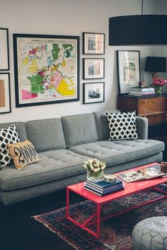 Color combo with grey couch
